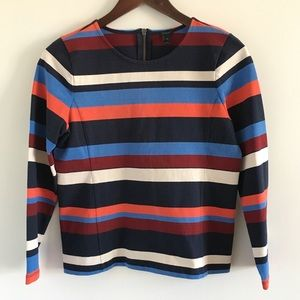 J. Crew 100% Cotton Colorblock Top in Stripe